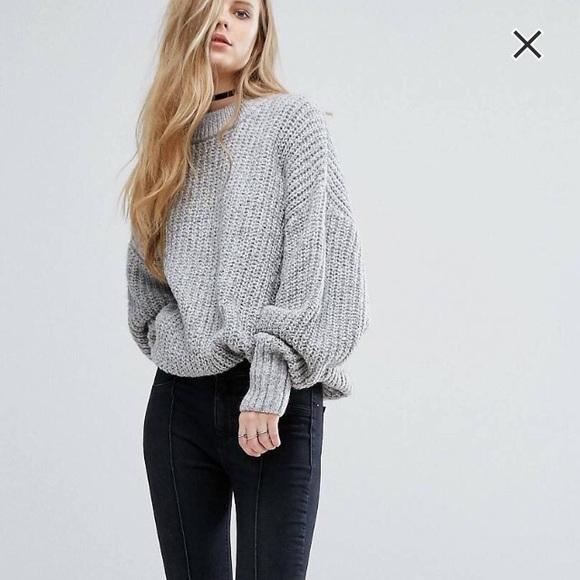 d68a95d4c47e9b ASOS Sweaters | Oversized Pull Bear Chunky Knit Sweater | Poshmark